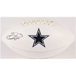 Emmitt Smith Signed Cowboys Logo Football (JSA COA  Prova Hologram)
