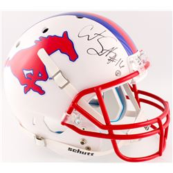 Courtland Sutton Signed Southern Methodist Mustangs Full-Size Helmet (Radtke COA)