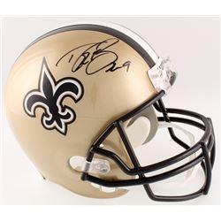 Drew Brees Signed Saints Full-Size Helmet (Radtke COA  Brees Hologram)