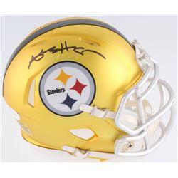 Antonio Brown Signed Steelers Blaze Speed Mini Helmet (JSA COA)