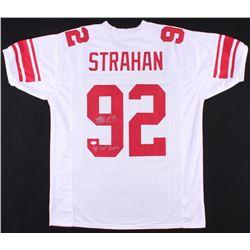 "Michael Strahan Signed Giants Jersey Inscribed ""SB XLII Champion"" (JSA COA)"