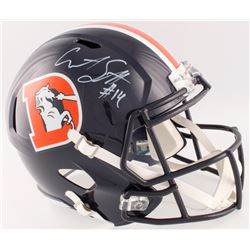 Courtland Sutton Signed Broncos Color Rush Full-Size Speed Helmet (Beckett COA)
