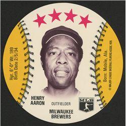 1976 Isaly Discs #1 Hank Aaron