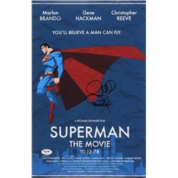 "Richard Donner Signed ""Superman"" 12x18 Movie Poster (PSA COA)"