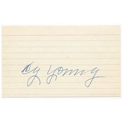 Cy Young Signed 3x5 Index Card (JSA LOA)
