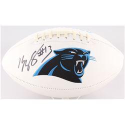 Kelvin Benjamin Signed Panthers Logo Football (JSA COA)