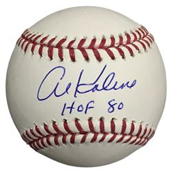"Al Kaline Signed OML Baseball Inscribed ""HOF 80"" (JSA COA)"