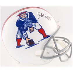 Steve Grogan Signed Patriots Throwback Full-Size Helmet (JSA COA)