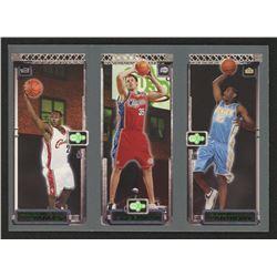 2003-04 Topps Rookie Matrix #JKA LeBron James 111 RC / Chris Kaman 116 RC / Carmelo Anthony 113 RC