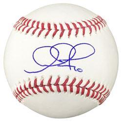 Adam Jones Signed OML Baseball (MLB  Fanatics Hologram)