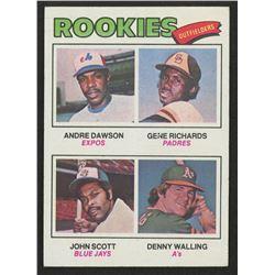 1977 Topps #473 Rookie Outfielders / Andre Dawson RC / Gene Richards RC / John Scott / Denny Walling