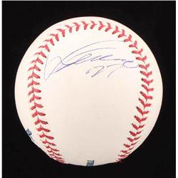 Vladimir Guerrero Signed OML Baseball (PSA COA)