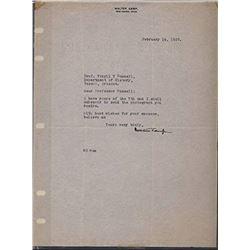 Walter Camp Signed 1922 Typed Letter (JSA ALOA)