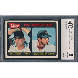 1965 Topps #477 Rookie Stars/Fritz Ackley/Steve Carlton RC (BCCG 8)