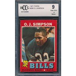 1971 Topps #260 O.J.Simpson (BCCG 9)