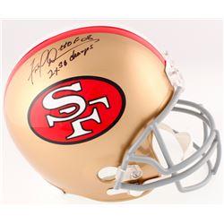 "Fred Dean Signed 49ers Full-Size Helmet Inscribed ""HOF 08""  ""2x SB Champs"" (Schwartz COA)"