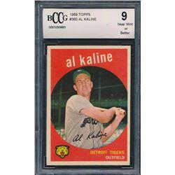 1959 Topps #360 Al Kaline (BCCG 9)