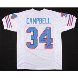 "Earl Campbell Signed Oilers Jersey Inscribed ""HOF 91"" (JSA COA)"