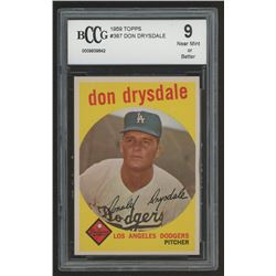 1959 Topps #387 Don Drysdale (BCCG 9)