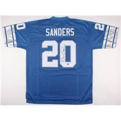 Barry Sanders Signed Lions Jersey (JSA COA)
