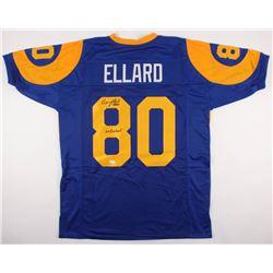 """Henry Ellard Signed Rams Jersey """"3x Probowl"""" (JSA COA)"""