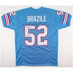 """Robert Brazile Signed Oilers Jersey Inscribed """"HOF 18"""" (JSA COA)"""