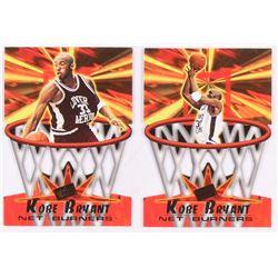 Lot of (2) Kobe Bryant Basketball Cards with 1996 Press Pass Net Burners #13  1996 Press Pass Net Bu