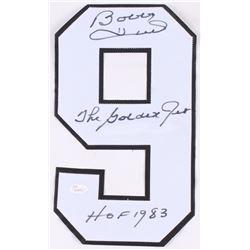 "Bobby Hull Signed Blackhawks Jersey Number #9 Inscribed ""The Golden Jet""  ""HOF 1983"" (JSA COA)"