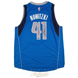 "Dirk Nowitzki Signed Mavericks Limited Edition Adidas Jersey Inscribed ""Swish 41"" (Panini COA)"