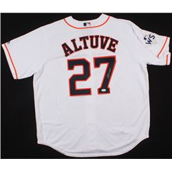 Jose Altuve Signed Astros World Series Jersey (JSA COA)