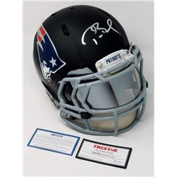 """Tom Brady Signed Limited Edition Patriots """"Fade to Black"""" Full-Size Authentic On-Field Helmet (Stein"""