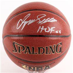 """Dominique Wilkins Signed Spalding Basketball Inscribed """"HOF 06"""" (Schwartz COA)"""