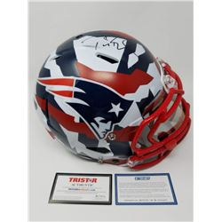 Tom Brady Signed Patriots Limited Edition Swedish Camo Full-Size Authentic On-Field Speed Helmet (St
