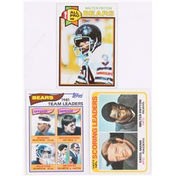 Lot of (3) Walter Payton Football Cards with 1979 Topps #480, 1978 Topps #334, 1982 Topps #292