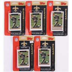 Lot of (5) 2006 Topps New Orleans Saints Team Cards Sets of (12)