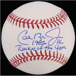 """Cal Ripken Jr. Signed OML Baseball Inscribed """"1982 AL Rookie Of The Year"""" (JSA COA)"""