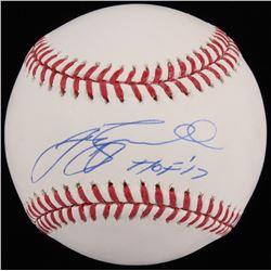 "Jeff Bagwell Signed OML Baseball Inscribed ""HOF ' 17"" (TriStar)"