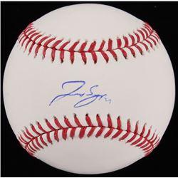 George Springer Signed OML Baseball (Beckett COA)