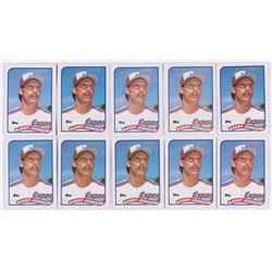 Lot of (10) 1989 Topps #647 Randy Johnson RC