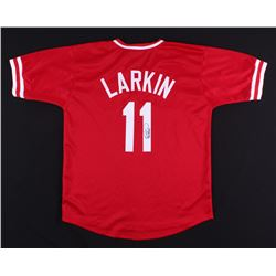 Barry Larkin Signed Reds Jersey (JSA Hologram)