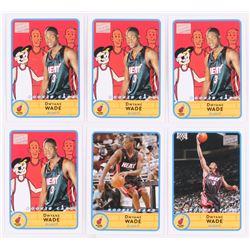 Lot of (6) Dwyane Wade Basketball Cards with 2003-04 Bazooka #252B, 2003-04 Bazooka Mini #252A  (4)