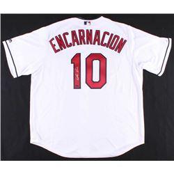 Edwin Encarnacion Signed Indians Jersey (Schwartz COA)