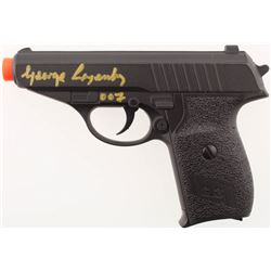 """George Lazenby Signed G3A Airsoft Gun Inscribed """"007"""" (JSA COA)"""