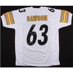 "Dermontti Dawson Signed Steelers Jersey Inscribed ""HOF 12"" (Jersey Source COA)"