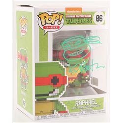 "Kevin Eastman Signed Teenage Mutant Ninja Turtles ""Raphael"" 8-Bit POP! Vinyl Figure with Hand-Drawn"