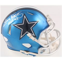 "Tony Dorsett Signed Cowboys Blaze Speed Mini-Helmet Inscribed ""HOF 94"" (JSA COA)"