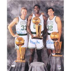 Larry Bird, Kevin McHale,  Robert Parish Signed Celtics 16x20 Photo (JSA LOA  Bird Hologram)