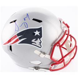 Sony Michel Signed Patriots Full-Size Speed Helmet (Beckett COA)