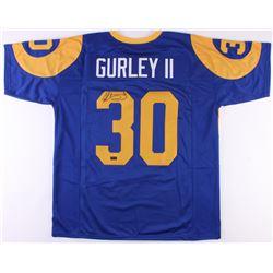 Todd Gurley Signed Rams Jersey (Radke COA)