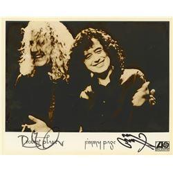 """Robert Plant  Jimmy Page Signed """"Led Zeppelin"""" 8x10 Photo (JSA LOA)"""